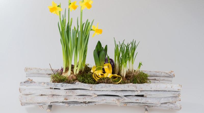 Sie müssen für eine tolle Blumendekoration keine Gestecke kaufen, auch wenn diese im Laden stets hübsch anzusehen sind. Sie können sie auch ganz einfach selbst herstellen, (#04)