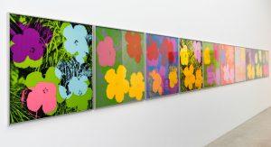 Andy Warhol: Bilder im Mumok Museum Of Modern Arts / Museum Moderner Kunst Stiftung Ludwig Wien im Augist 2015. Blumen haben durch Andy Warhol im Kontext von Pop Art eine völlig neue Bedeutung und Interpretation erfahren. (#3)
