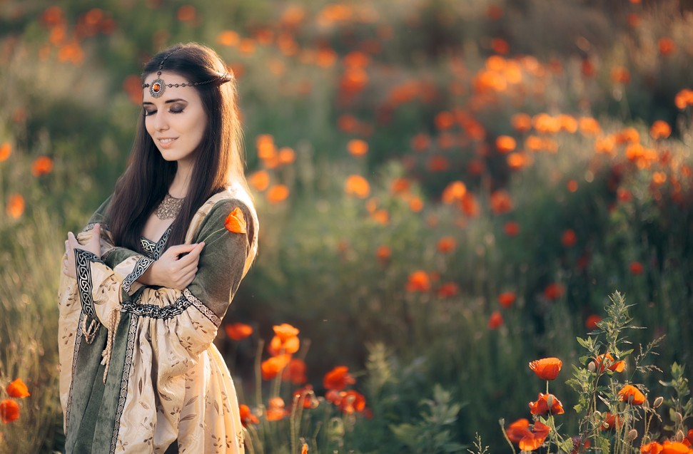 Blumen hatten schon zu jeder Zeit eine besondere Bedeutung. In jedem Zeitalter waren es andere Blumen, die sich der Wertschätzung der Menschen erfreuten. Auf diesem Bild sind es Mohnblumen, die auch im Mittelalter vor allem in der Heraldik Bedeutung erlangte. (#7)