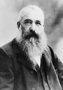 Claude Monet 1901 in der Giverny. Der 60-jährige Maler des Impressionismus arbeitete noch zwei Jahrzehnte und produzierte seine Waterlily-Serie. (#2)