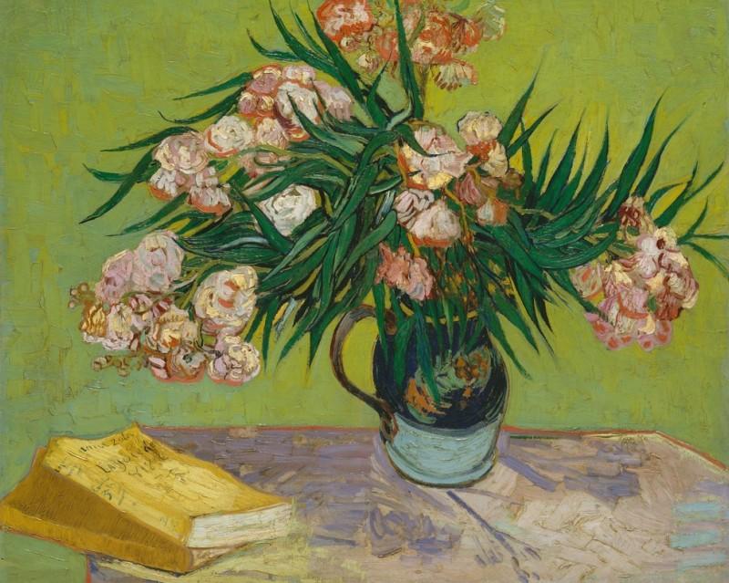 """Kunstdrucke von berühmten Werken wie """"Oleanders"""" (Vincent van Gogh) gibt es wie Sand am Meer. Die Original Leinwand mit Ölfarben hängt im Metropolitan Museum of Art in New York. (#1)"""