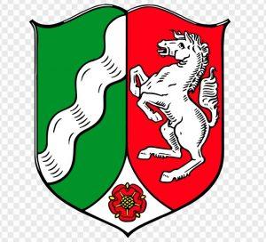 """Die """"Läppische Rose"""" aus Lippe hat im Wappen von Nordrheinwestfalen einen dauerhaften Platz gefunden.  (#5)"""