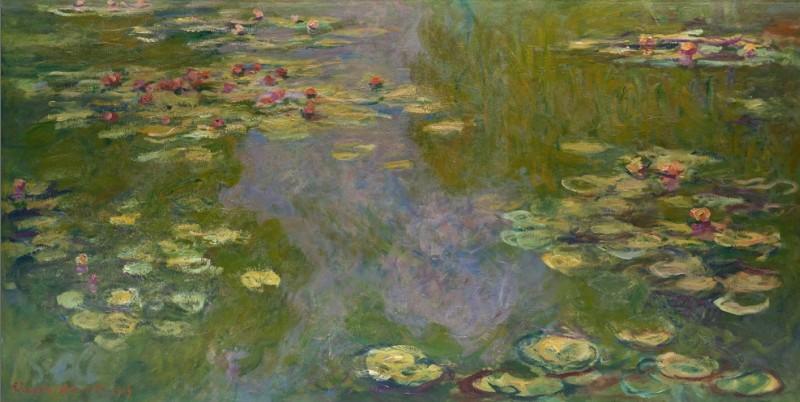 """Aus etwa 250 Ölgemälden besteht die Serie """"Water Lilies"""" des Impressionisten Claude Monet. Die Bilder zeigen seinen französischen Blumengarten in seinem Haus in Giverny. (#3)"""