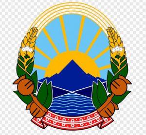 Das Staatswappen von Mazedonien in der Fassung ab 2009. Mohnblumen zieren das Wappen. (#6)